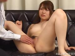 Japanese skank rides a weasel words tick getting their way pussy fingered