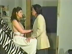 Slutty brunette MILF gets her vagina fucked hard in retro video porn video