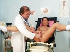 Small tit chick Rihanna Samuel and her doctor