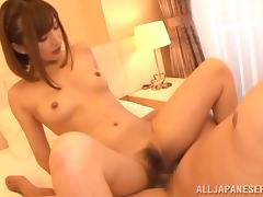 Cute Asian Hoe Giving Her Man A Blowjob Before Hardcore Sex