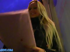 PublicAgent: Blonde with Huge Boobs win iPad