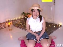 Cute Asian Teen Azusa Akane Gives A Marvelous Blowjob