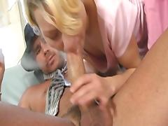 Shorthaired blondie deep anal