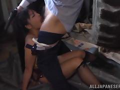 Gorgeous Japanese babe gets pounded by gangsters