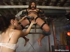 Annie Cruz gets shocked with electricity and toyed by a mistress