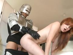 Hardcore redhead model fuck with robocop