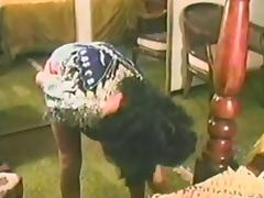 Hot Ass MILF Enjoys While Her Cunt is Destroyed In This Retro Video porn video
