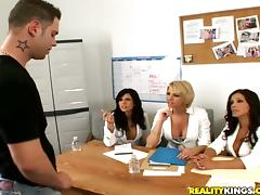 4some, Blowjob, CFNM, Cowgirl, Foursome, Group