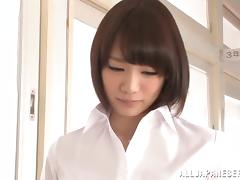 Great blowjob from a hot Japanese office girl