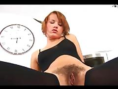 Ansie Masturbating Her Wet Hairy Pussy BVR