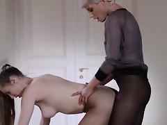 22yo schoolgirl gets fuck from strap on