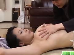 Pretty mature hottie Miki Sato is a fan of bondage