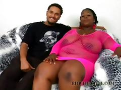 Big Chubby BBW Gets Big Black Dick For Her Soaking Pussy