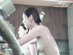 Japan females washing nude boobs and heads on spy camera 3341
