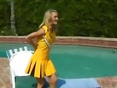 Sexy Blonde Cheerleader Gets Slammed Hard Outdoors