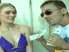 Money, Blonde, Couple, Money, Naughty, Outdoor