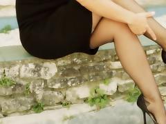 SUPER SEXY RHT NYLON LEGS
