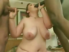 Fat Orgy, BBW, Brunette, Chubby, Chunky, Fat