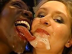 Sabine and Bernadette in a hot double penetration scene
