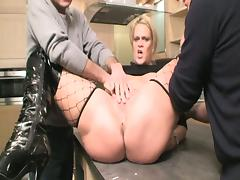 Chubby blonde milf tag teamed