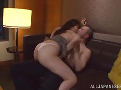 Amazing sex scene with super horny Japanese couple