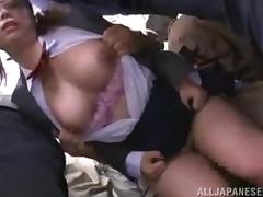 All, Asian, Big Tits, Brunette, Gangbang, Japanese