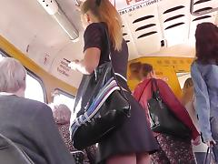 Beauty, Ass, Beauty, Bus, Skirt, Upskirt