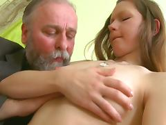 Old and Young, Blowjob, Brunette, European, Small Cock, Teacher
