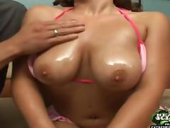 All, Big Tits, Bikini, Couple, Oil, Reality
