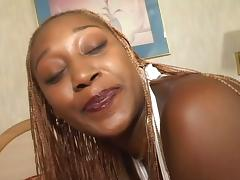 Big Black BBW is Getting Face Fucked Hard by Black Cock