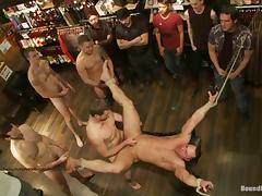 Five Horny Homosexuals Go Hardcore Together In Public