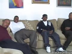 Black Buddy Bring Home Sexy Chick For Interracial Gangbang