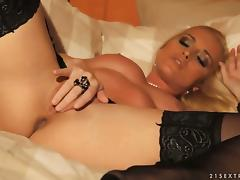 Blonde Kathia Nobili gets the pleasure porn video