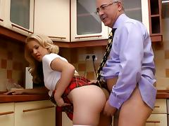 Kitchen, Blonde, Blowjob, Kitchen, Penis, Riding