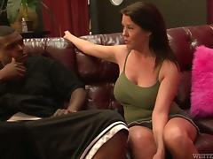 Big tittied Grace Evangeline gets banged by Black dude