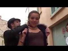 Italian bimbo enjoys a hot bukkake gangbang