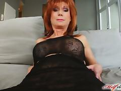 Mature Nina gets facialed massively after butt fucking