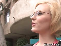 MILF with Glasses Gets Interracial DP'd by Two Black Guys