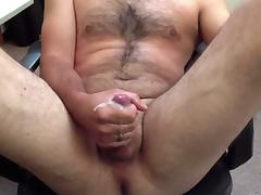 Me Stroking, Legs Spread, Cumshot