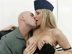 big titted milf officer gets fondled porn video