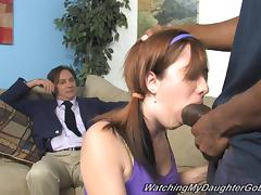 Appetizing Ivy Rider Goes Hardcore With A Black Guy