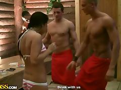 Highly hard fuck in a sauna