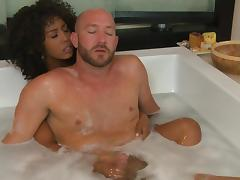 Misty Stone is sucking tasty white dick porn video