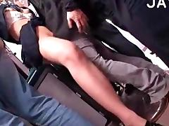 Hairy Slut Gets Fucked In A Bus