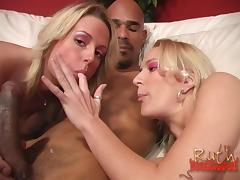 Wonderful Nikki Hilton And Her Hot GF Have An Interracial Threesome