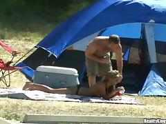 Everyday fuck at the camping with Maliana porn video