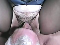 A naughty girl in sexy police uniform gets fucked by an old man porn video