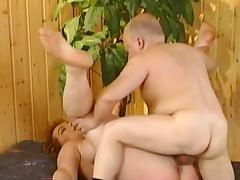 Mature Kira Red fucks with fat man