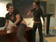 Such a gorgeous and steaming hot teacher gets it big