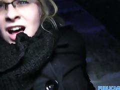 PublicAgent - Surprised blonde in glasses